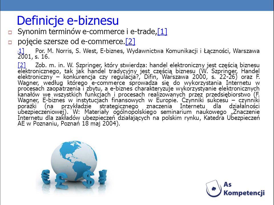 Definicje e-biznesu Synonim terminów e-commerce i e-trade,[1]